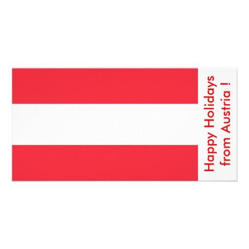 Bandeira de Áustria, boas festas de Áustria Cartao Com Fotos