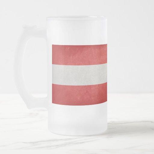 Bandeira de Áustria; Caneca