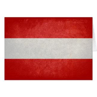 Bandeira de Áustria Cartão De Nota