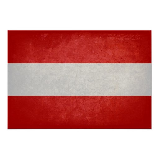 Bandeira de Áustria Posteres