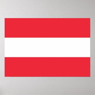 Bandeira de Áustria Poster
