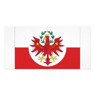 Bandeira de Áustria Tirol Cartão Com Foto