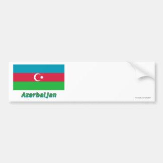 Bandeira de Azerbaijan com nome Adesivo Para Carro