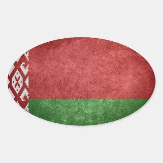 Bandeira de Belarus Adesivo Oval