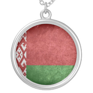 Bandeira de Belarus Colar Com Pendente Redondo