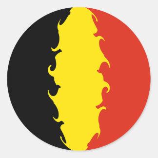 Bandeira de Bélgica Adesivo Redondo