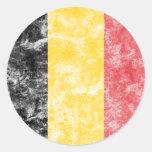 Bandeira de Bélgica do vintage Adesivos Redondos