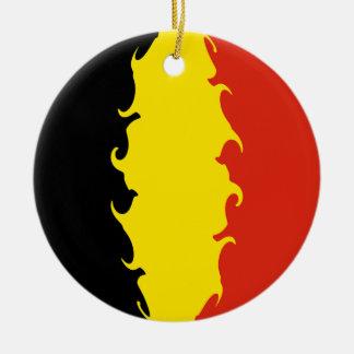 Bandeira de Bélgica Ornamento De Cerâmica Redondo