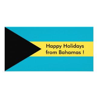 Bandeira de Belize, boas festas de Bahamas Cartão Com Foto