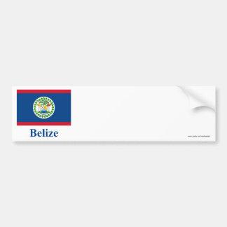 Bandeira de Belize com nome Adesivos