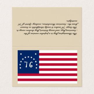 Bandeira de Bennington do cartão de visita - da
