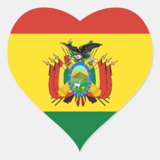 Bandeira de Bolívia Adesivo Coração