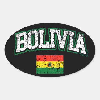 Bandeira de Bolívia Adesivo Oval