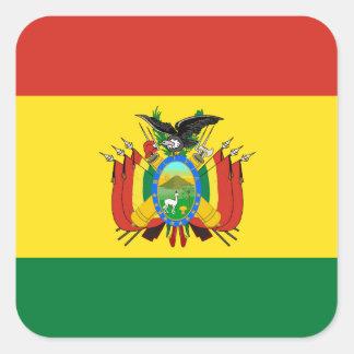 Bandeira de Bolívia Adesivo Quadrado