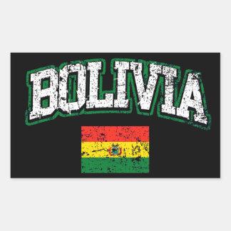 Bandeira de Bolívia Adesivo Retangular