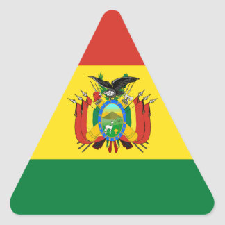 Bandeira de Bolívia Adesivo Triangular