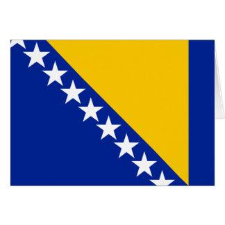 Bandeira de Bósnia Cartão De Nota