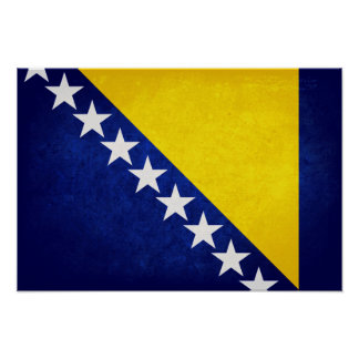Bandeira de Bósnia Poster