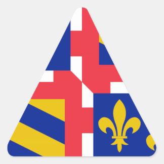 Bandeira de Bourgogne (France) Adesivos Em Forma De Triângulo