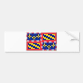 Bandeira de Bourgogne (France) Adesivo Para Carro