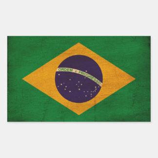 Bandeira de Brasil Adesivos Retangular