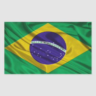 Bandeira de Brasil Adesivo Retangular