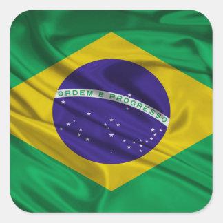 Bandeira de Brasil Adesivo Quadrado
