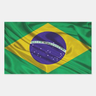 Bandeira de Brasil Adesivos Retangulares