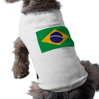 Bandeira de Brasil Camisa Sem Mangas Para Cachorro