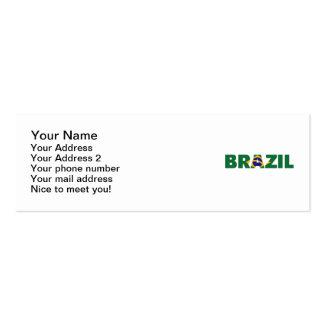 Bandeira de Brasil Cartão De Visita Skinny