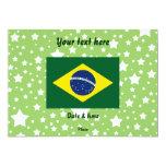 Bandeira de Brasil Convite 12.7 X 17.78cm