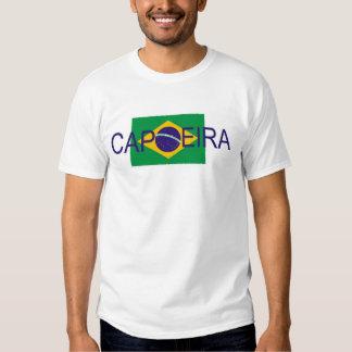 bandeira de Brasil do capoeira T-shirt