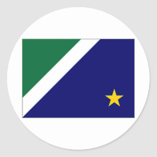 Bandeira de Brasil Mato Grosso do Sul Adesivo