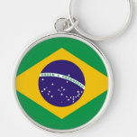 Bandeira de Brasil para a forma de Brazillian Chaveiros