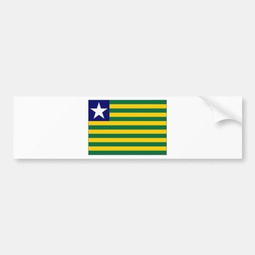 Bandeira de Brasil Piauiacute Adesivo