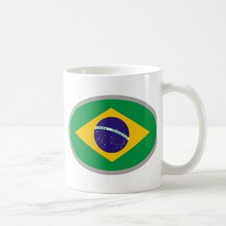Bandeira de Brasil - refrigere o design! Canecas