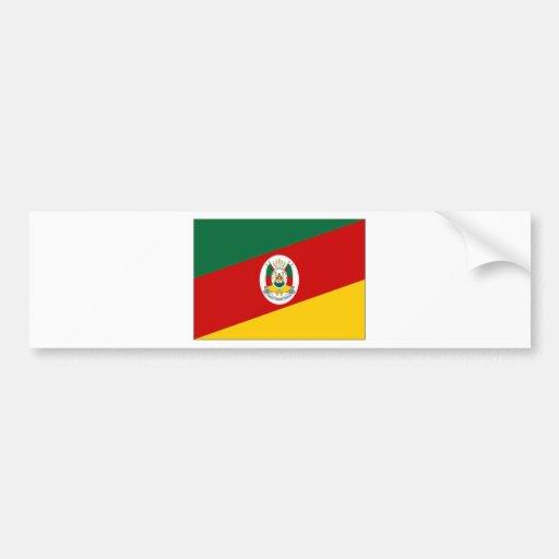 Bandeira de Brasil Rio Grande do Sul Adesivo