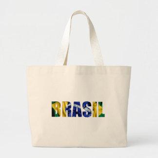 Bandeira de Brasil Sacola Tote Jumbo