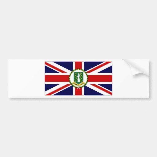 Bandeira de British Virgin Islands Adesivos