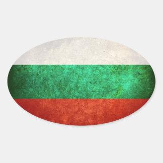 Bandeira de Bulgária Adesivo Oval
