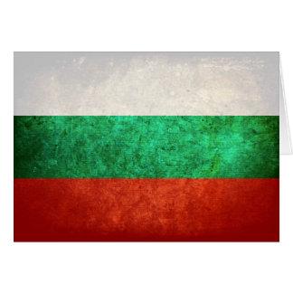 Bandeira de Bulgária Cartão De Nota