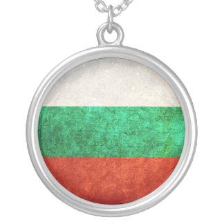 Bandeira de Bulgária Colar Com Pendente Redondo