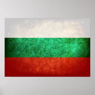 Bandeira de Bulgária Poster