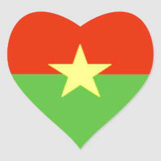 Bandeira de Burkina Faso Adesivo Coração
