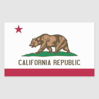 Bandeira de Califórnia Adesivo Retangular