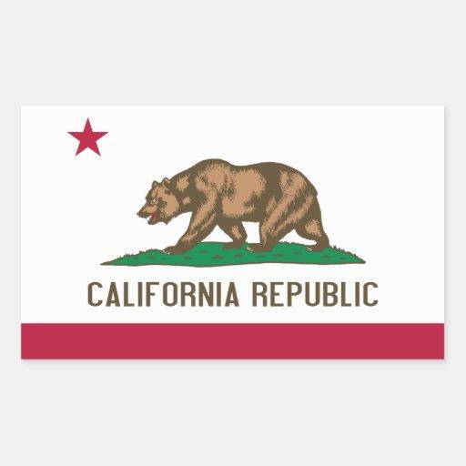 Bandeira de Califórnia Adesivo Em Forma Retangular