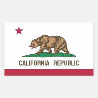 Bandeira de Califórnia Adesivo Em Formato Retângular