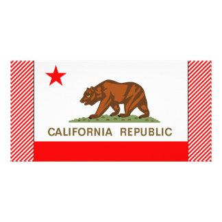 Bandeira de Califórnia Cartoes Com Foto