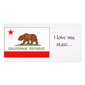 Bandeira de Califórnia Cartoes Com Fotos Personalizados