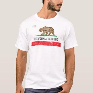 Bandeira de Califórnia do vintage Camiseta